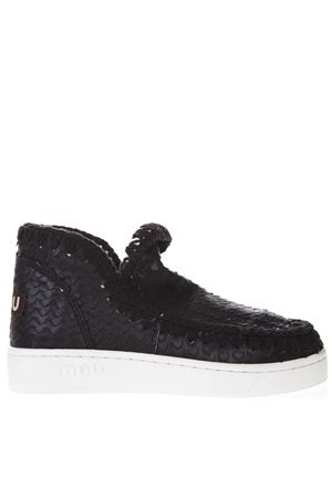 SUMMER ESKIMO ALL SEQUINS  BLACK CANVAS SHOES SS19 MOU | 48 | MU.SNELOWSPESS/SCA/BLACK SCALES