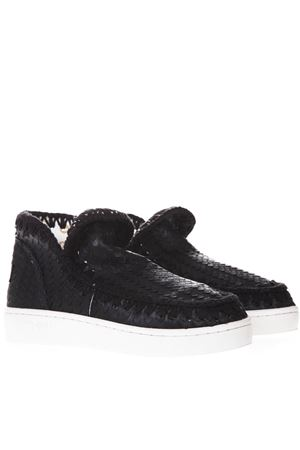 SUMMER ESKIMO ALL SEQUINS  BLACK CANVAS SHOES SS19 MOU | 55 | MU.SNELOWSPESS/SCA/BLACK SCALES