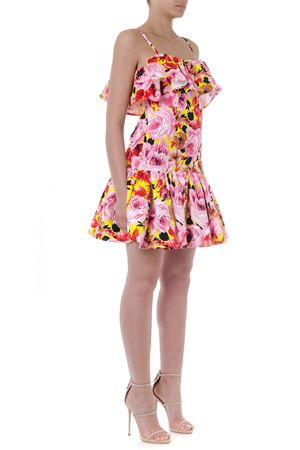 SHORT MULTICOLOR FLOWER FLOUNCED DRESS SS19 MSGM | 32 | 2642MDA260A19535006