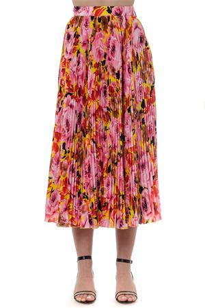 LONG MULTICOLOR FLOWER PLEATED SKIRT SS19 MSGM | 26 | 2642MDD123P19535606