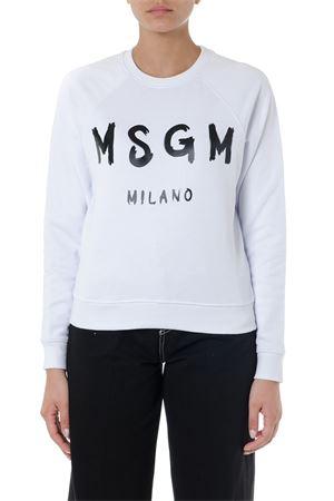 WHITE MSGM MILANO COTTON SWEATSHIRT SS19 MSGM | 19 | 2642MDM18919529901