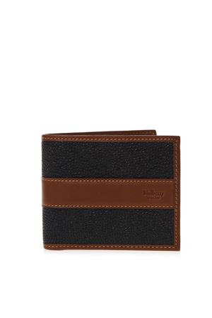 BLACK & COGNAC LEATHER CARD WALLET SS19 MULBERRY | 34 | RL53940011A340
