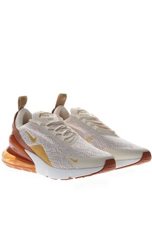 CREAM AND GOLD SNEAKERS NIKE AIR MAX 270 IN KNIT SS 2019 NIKE | 55 | AH6789-203AIR MAX 270LIGHT CREAM/METALLIC GOLD