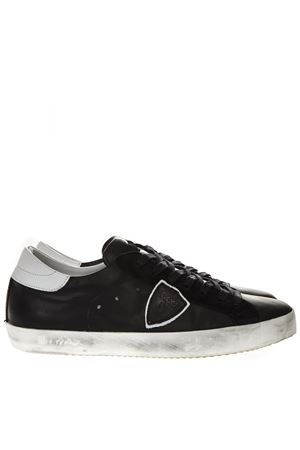 BLACK LEATHER SNEAKERS SS19 PHILIPPE MODEL | 55 | CLLUUNIV084