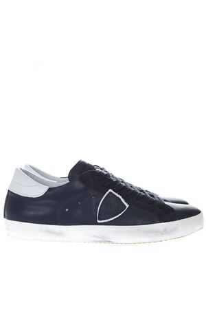 BLUE LEATHER SNEAKERS SS19 PHILIPPE MODEL | 55 | CLLUUNIV087