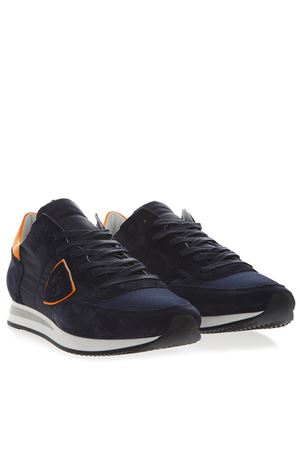 ... BLUE   ORANGE SUEDE   NYLON SNEAKERS SS 2019 PHILIPPE MODEL  58d540674bb