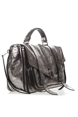 BORSA PS 1+ MEDIUM IN PELLE ARGENTO PE 2019 PROENZA SCHOULER | 2 | H0066911986