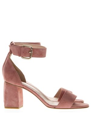 60MM CHUNKY HEEL ROSE SUEDE SANDALS SS 2019 RED VALENTINO | 87 | RQ2S0A47NXGUNIP77