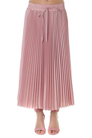ANTIQUE ROSE LONG PLEATED SKIRT SS19 RED VALENTINO | 26 | RR3RAA05BYZUNIR13