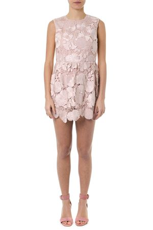 ROSA CIPRIA SHORT MACRAMÈ EMBROIDERY DRESS SS19 RED VALENTINO | 23 | RR3VE00ATCHUNI377