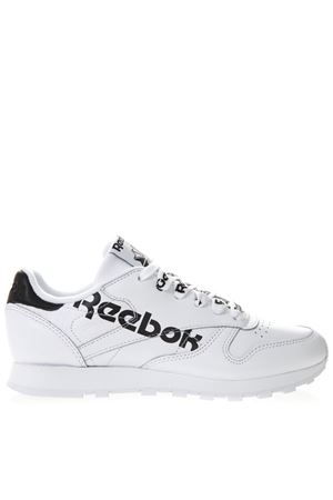 146b25e6abaf WHITE LEATHER SNEAKERS WITH LOGOED LACES SS 2019 REEBOK
