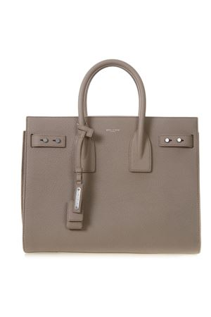 SAC DE JOUR TAUPE LEATHER TOTE BAG SS 2019 SAINT LAURENT  6dc7adc4f7aab