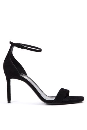 BLACK SUEDE AMBER SANDALS FW 2019 SAINT LAURENT | 87 | 487535C20001000