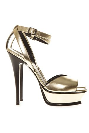 TRIBUTE 105 OPEN-TOE LEATHER SANDALS 135MM SS 2019 SAINT LAURENT | 87 | 5029570PS007100