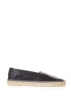 BLACK GRAINED LEATHER ESPADRILLAS FW 2018/2019 SAINT LAURENT | 144 | 5096160AS001000