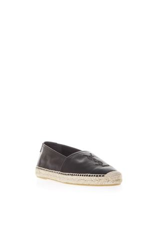 ESPADRILLAS IN PELLE MARTELLATA NERA PE 2019 SAINT LAURENT | 144 | 5096160AS001000