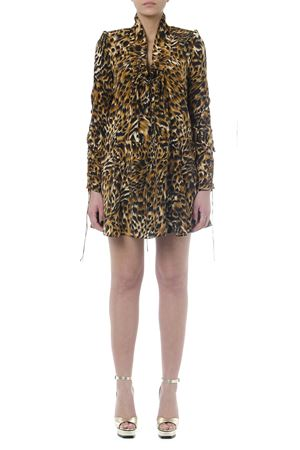 BROWN LEOPARD ANIMAL MINI DRESS SS 2019 SAINT LAURENT | 32 | 542214Y31109664