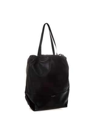 bfed21241a730 TEDDY BLACK LEATHER SHOPPING BAG SS 2019 - SAINT LAURENT - Boutique ...