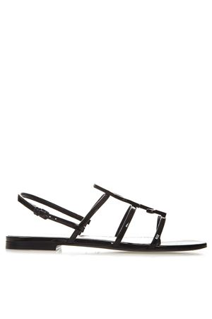 CASSANDRA BLACK PATENT LEATHER FLAT SANDALS SS 2019 SAINT LAURENT | 87 | 5522450NPVV1000