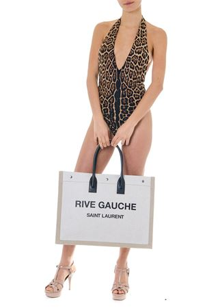 BROWN ANIMAL LEOPARD PRINT SWIMSUIT SS19 SAINT LAURENT | 29 | 553612Y395S9665