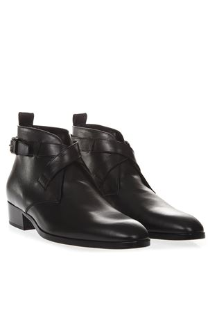 BLACK WYATT LEATHER ANKLE BOOTS SS19 SAINT LAURENT | 52 | 5551940ZZ001000