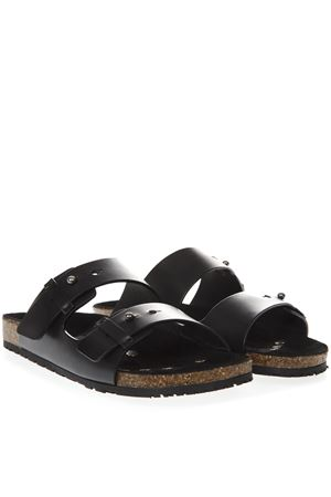 JIMMY BLACK LEATHER SANDALS SS19 SAINT LAURENT | 87 | 5575610MU001000
