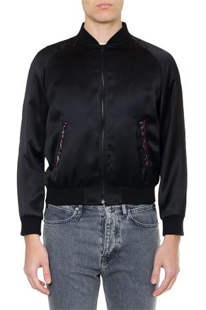 BLACK SATIN EMBROIDERY JACKET SS19 SAINT LAURENT | 27 | 558353Y161W1000