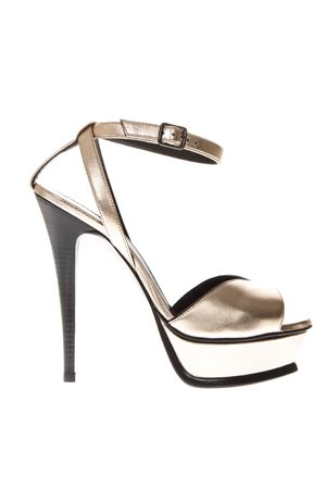 TRIBUTE METALLIC LEATHER SANDALS SS 2019 SAINT LAURENT | 87 | 5617420XQ006703