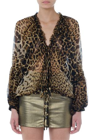 LEOPARD PRINT SILK BLOUSE SS 2019 SAINT LAURENT | 9 | 564185Y820S9665