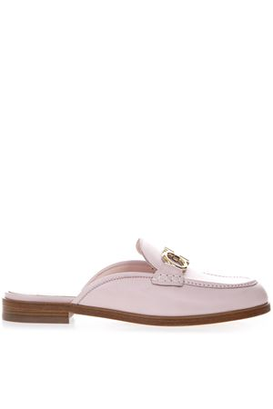 PINK LEATHER SLIPPERS WITH GANCINI BUCKLE SS 2019 SALVATORE FERRAGAMO | 110000060 | 01P109VIGGIOBON BON