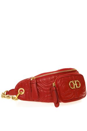 RED GANCINI QUILTED LEATHER BELT BAG SS19 SALVATORE FERRAGAMO | 2 | 21H337QUILTINGLIPSTICK