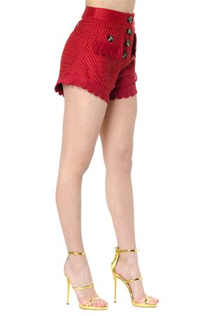 RED CROCHET SHORTS SS 2019 SELF PORTRAIT | 110000034 | SP21-001RRUST CROCHET LACERUST