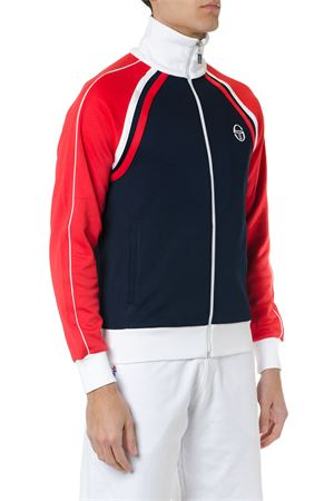 RED BLUE AND WHITE ZIPPED SWEATSHIRT IN MIXED COTTON SS 2019 SERGIO TACCHINI | 19 | 366371002