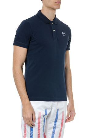NAVY COTTON LOGO POLO SHIRT SS19 SERGIO TACCHINI | 11 | 366421002