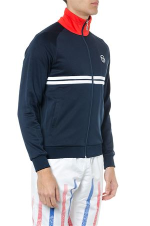 NAVY BLUE TECHNICAL FABRIC KNITWEAR SS19 SERGIO TACCHINI | 19 | 375701NAVY/WHITE