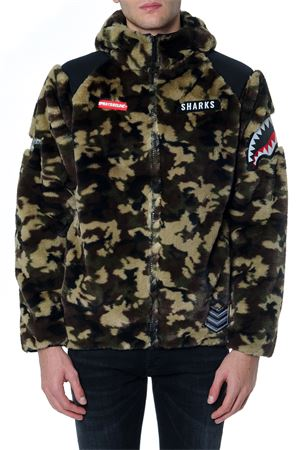 SOLDIER TECHNICAL FABRIC CAMOUFLAGE JACKET FW 2019 SPRAYGROUND | 14 | 91C700201YZIP UP SHARK HOODYCAMO