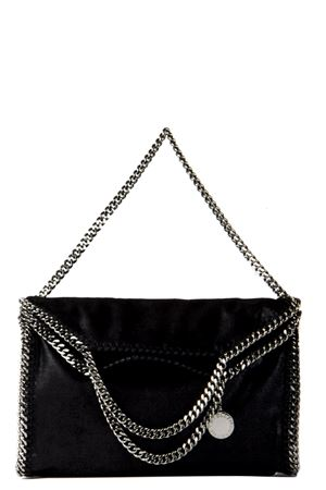 ... BLACK FOLDING FALABELLA 3 CHAIN TOTE BAG SS 2019 STELLA McCARTNEY  0f522a649c9ee