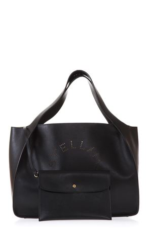BLACK FAUX LEATHER TOTE BAG WITH LOGO FW 2018 STELLA McCARTNEY | 2 | 502793W99231000