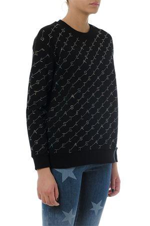 EMBELLISHED LOGOED BLACK COTTON SWEATSHIRT SS 2019 STELLA McCARTNEY | 16 | 523505SMW351000