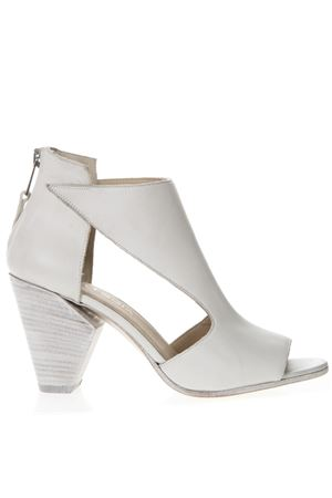 WHITE LEATHER ANKLE BOOTS SS 2019 STRATEGIA | 52 | A4004NATURALGESSO