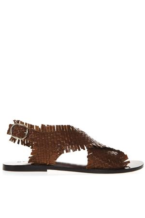 BROWN BRAIDED LEATHER SANDAL SS19 STRATEGIA | 87 | K03STRINGCUOIO