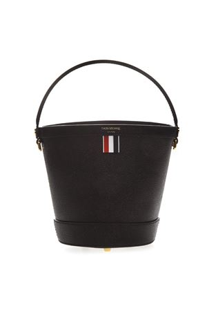 BLACK LEATHER BUCKET BAG SS19 THOM BROWNE | 2 | FAP194A00198001