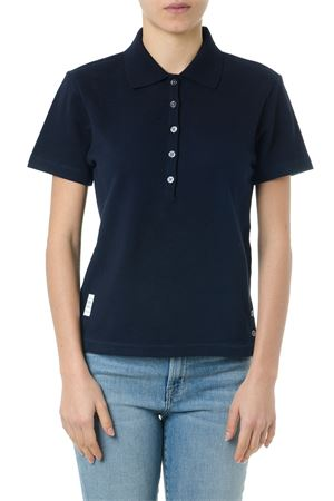 NAVY COTTON POLO SHIRT WITH ICONIC RIBBON SS 2019 THOM BROWNE | 11 | FJP014A00050415