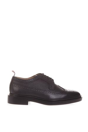 BLACK LEATHER LACE-UP SHOES SS 2019 THOM BROWNE | 208 | MFD002H00198001