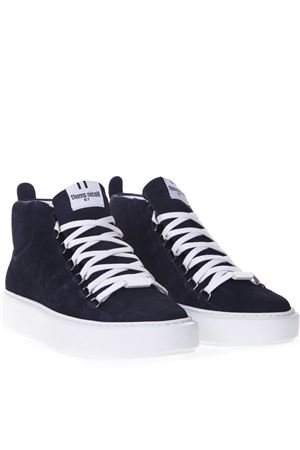BLUE SUEDE HIGH-TOP SNEAKERS SS 2019 THoMS NICOLL | 55 | 369OXIDEBLU
