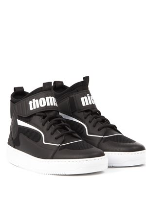BLACK HIGH-TOP SNEAKERS WITH LOGO SS 2019 THoMS NICOLL | 55 | 434UVARIANTENERO