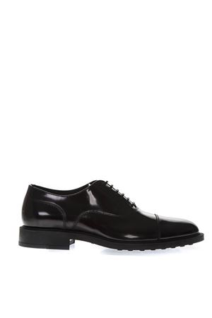 BLACK CLASSIC LACED UP SHOES IN LEATHER SS 2019 TOD