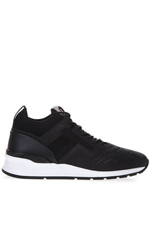 BLACK PERFORATED LEATHER SNEAKERS SS19 TOD