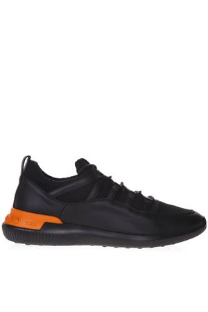 BLACK SNEAKERS IN LEATHER AND SCUBA SS 2019 TOD