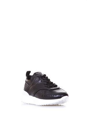 BLACK PERFORATED SNEAKERS IN LEATHER SS 2019 TOD